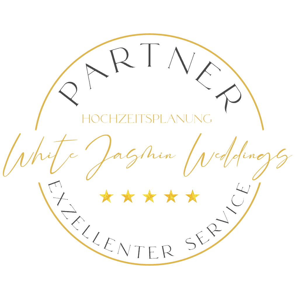 White Jasmin Weddings Premium Mitgliedschaft Badge